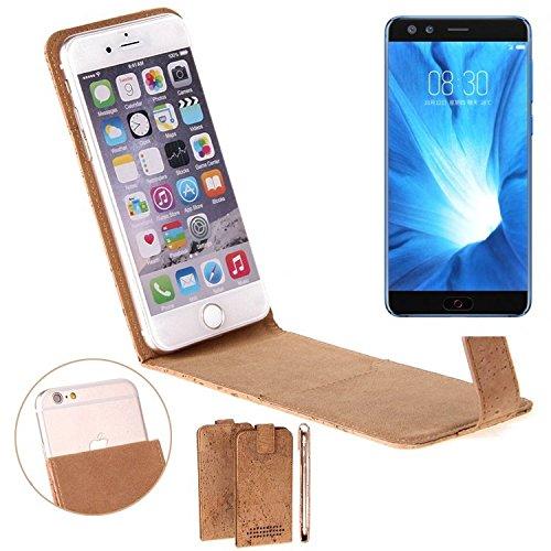 K-S-Trade Für Nubia Z17 Mini S Korkhülle Flipstyle Case Schutzhülle Kork Case Hülle Flip Cover Smartphone Tasche für Nubia Z17 Mini S