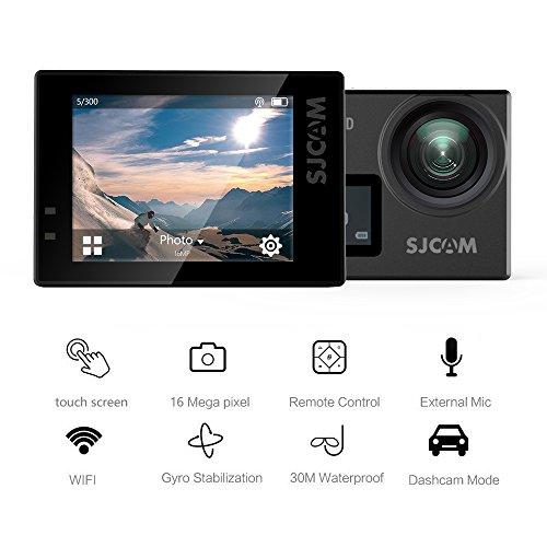 "4K Sport Action Camera,SJCAM SJ6 Legend 16MP WIFI Waterproof Camera- Dual Screen/2""Touch Screen/Remote Control/Microphone Supported/Gyro Stabilization(Black)"