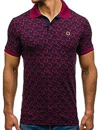 BOLF - T-shirt à manches courtes – Chemise Polo – Motiv – Homme – 3C3