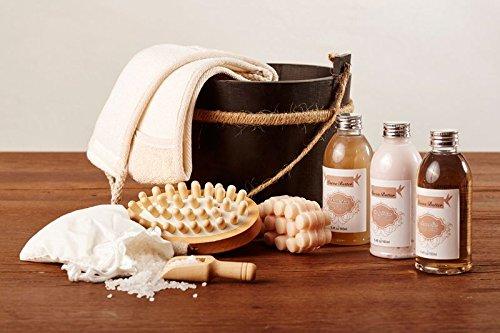 Wellness Set im Holzfass 9-teilig / Beautyset Pflegeset Geschenkset in drei Duftrichtungen (Schoko)
