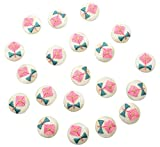 #10: Fabric and Lace Buttons Thread Embroidery Flower Design Buttons,buttons for crafts/stitching/jewelry/artwork 2.5 cm x 2.5 cm x 0.5 cm, Pack of 20