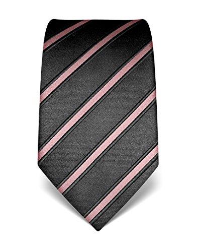 Vincenzo Boretti Herren Krawatte aus reiner Seide, gestreift rosa