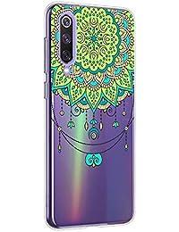 Oihxse Mandala Flores Encaje Patrón Serie Case Compatible con Huawei P40 Pro Funda TPU Silicona Suave Protector Ultra Slim Anti-Rasguño Transparente Carcasa (A2)