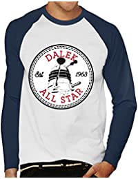 9601e67dbfa809 Cloud City 7 Dalek Doctor Who All Star Converse Logo Men s Baseball Long  Sleeved T-