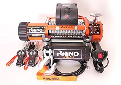 12v 4x4 Recovery Winch 13500lb (Not 13000lb) - Heavy Duty - Two Remotes
