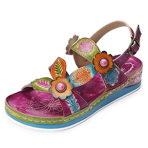 Gracosy Sandalias Platform Caminar Mujer