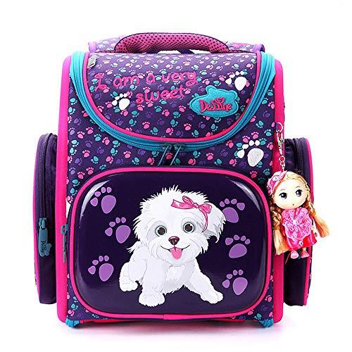 Ergonomischer Schulranzen Mädchen 1-4.Klasse mit Babypuppe,Schulrucksack Mädchen Grundschule,Rucksack School Kinderrucksäcke,Mädchen Geschenk