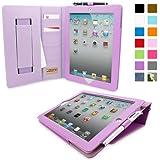 Snugg - Funda de piel con función atril y lápiz capacitativo para iPad Air 2, Violeta iPad Air 2 Executive
