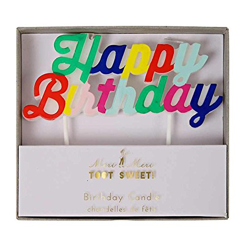 Meri Meri - Bougie Happy Birthday multicolore - Multicolore - TU