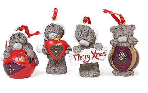 Glamour Girlz Set von 4Festive Me to You Tatty Teddy Weihnachtsbaum Geschenkbox Ornament Weihnachtskugeln