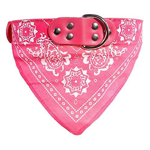 probeninmappx Hundehalsband Haustier Schnalle Schal Turban PU Leder Gürtel Halskette, Rosy, 42 * 2 cm