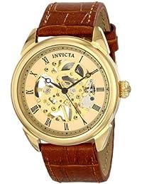 Invicta 17186 - Reloj para hombres, correa de cuero color marrón