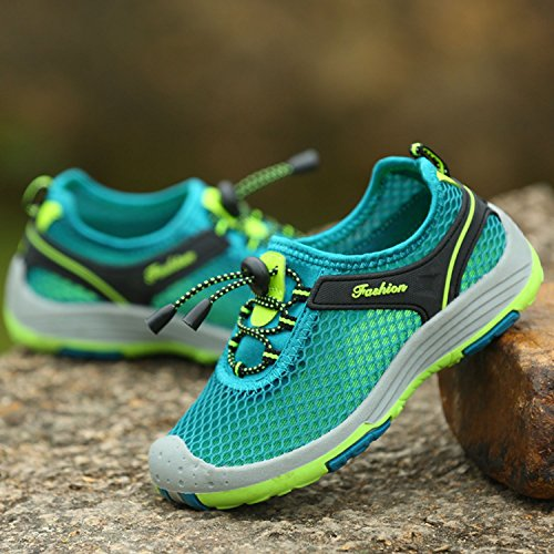 Myaikku Scarpe da Ginnastica Basse Sportive Outdoor Sneakers Estive Running Scarpe per bambini e ragazzi Verde