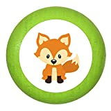 Holzknauf Fuchs limette grün Holz Kinder Kinderzimmer 1 Stück Waldtiere