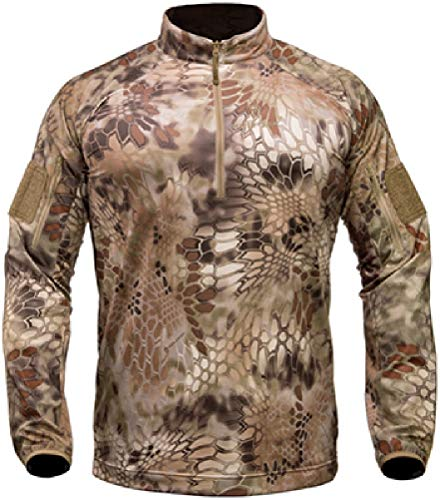 Kryptek Valhalla Long Sleeve Zip Shirt Highlander groß -