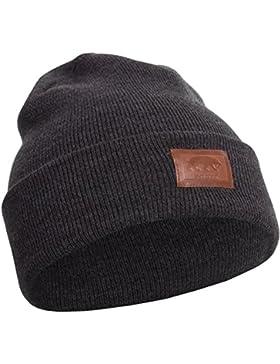 Smilodox Mütze mit Leder Logo Aufnaht