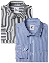 Excalibur by Unlimited Men's Solid Regular Fit Formal Shirt (Pack of 2)