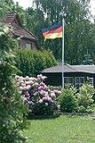 Alu Fahnenmast Flaggenmast mit Deutschlandflagge 6
