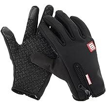 HAWEEL® Guantes de dedo completo dos dedos pantalla táctil resistente al viento invierno cálido Smartphone guantes para deportes al aire libre, senderismo, ciclismo