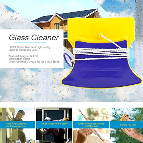 Magnet & ABS Double Side Magnetic Window Cleaner Glass Wiper Useful Surface Brush High-efficiency Cleaning Tools