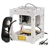 300MW USB Desktop DIY CNC Laser Gravierer Engraver Gravur Gravieren Schnitzen Schneiden Maschine Graviermaschine Drucker Laserdrucker weiß