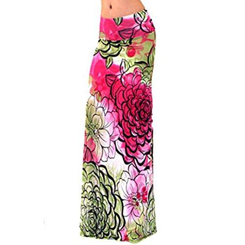 Novias Boutique Damen Rock Gr. X-Large, rote streifen Red Flower