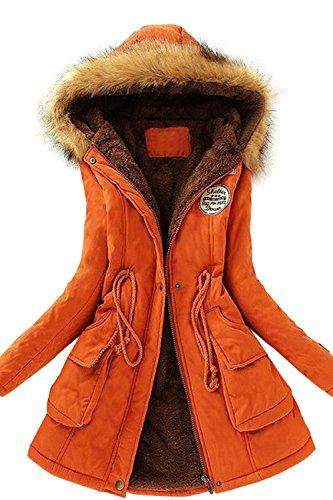 Babyonline Winterparka Damen Weinachtsgeschenke Winterjacke Fellkapuze Jacken Mit Kapuze Damen Parka Damen