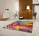 Designer Teppich Friese Modern Verschiedene Größen, Bunt (160x230)