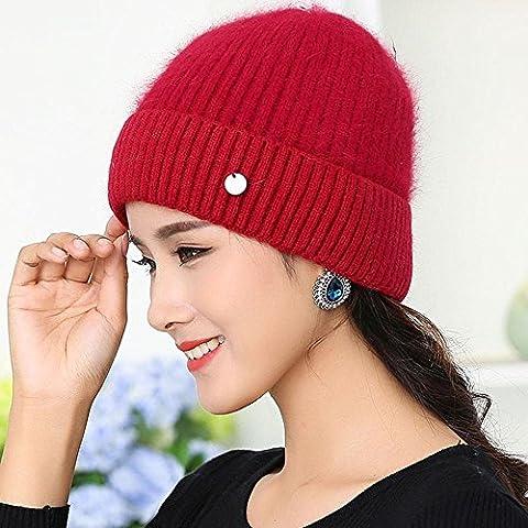 BUSL Hut Frauen im Winter im Freien warme Wolle Hut gestrickt ältere Menschen verdicken den Kopf Hut . (Krone Für Weihnachten Szenen)