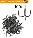Savage Gear Y-Treble Hook - 100 Drillinge, Drillingshaken, Angelhaken, Dreierhaken