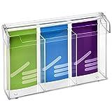 3-Fach DIN Lang Prospektbox/Prospekthalter / Flyerhalter im Hochformat, wetterfest, für Außen, mit Deckel, aus glasklarem Acrylglas - Zeigis®