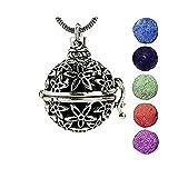 OUTLETISSIMO Collar Bola Mexicana Difusor con 5Bolas de Piedra volcánica Perfume aromaterapia cristaloterapia Modelo ub06