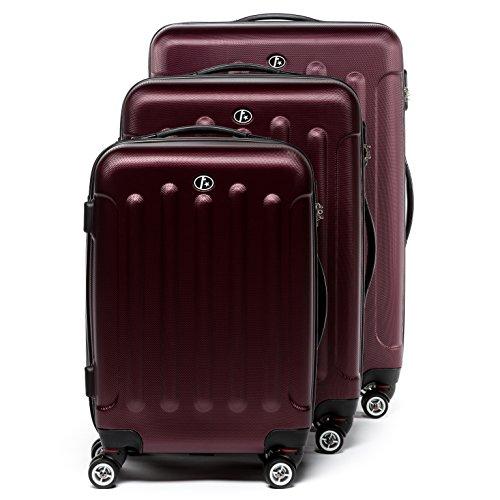 FERGÉ® Kofferset Hartschale 3-teilig LYON Reise-Koffer Set leicht 3er Hartschalenkoffer Trolley Set (M L XL) 4 Zwillings-Rollen (360°) H...