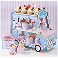 Talking Tables Street Stalls Ice Cream Food Card Street Stall for Birthdays and Party Decorations, Multicolour