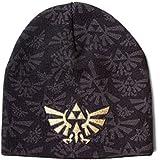 Official ZELDA Nintendo Game Black Beanie Hat GOLD LOGO