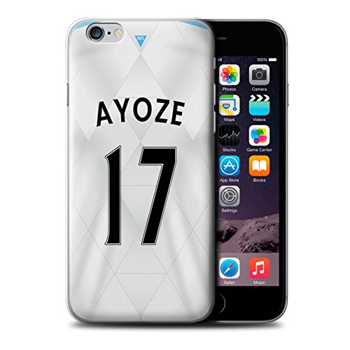Offiziell Newcastle United FC Hülle / Case für Apple iPhone 6S / Lascelles Muster / NUFC Trikot Away 15/16 Kollektion Ayoze