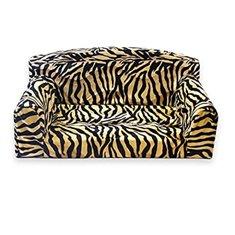 Gold Antelope Animal – Pet Sofa. 3 sizes Dog bed. High quality cover material. Made in UK (Large 96cm x 64cm x 34cm)