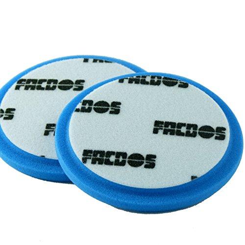 FACDOS C1 Polier-Schwamm 135mm x 15mm | sicherer & effektiver Lackabrieb | Cutting Pad zur professionellen Aufarbeitung aller gängigen Auto-Lacke | Schwamm mit optimierten & scharfkantigen Poren
