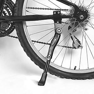 """EKKONG Pata de Cabra Bicicletas, Aluminio Aleación Ajustable Bici Pata de Cabra Bicicleta Caballete Lateral con pie de Goma Antideslizante para Bicicletas 24""""- 27"""""""
