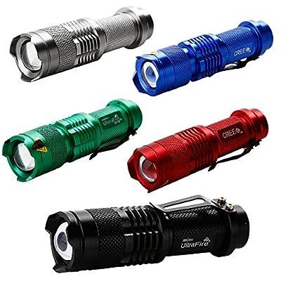 Gimbal® Einstellbare Fokus Zoomable LED Taschenlampe Ultra 1000LM CREE Q5 LED Flashlight