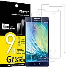 NEW'C 3 Pezzi, Vetro Temperato per Samsung Galaxy A5 2015 (SM-A500F), Pellicola Prottetiva Anti Graffio, Anti-Impronte, Senza Bolle, Durezza 9H, 0,33mm Ultra Trasparente, Ultra Resistente