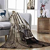 YYUTR Digital Printing Blanket Vintage Car An Old American