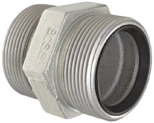 Boss Ground Joint (Dixon Boss GDB28 Plated Iron Hose Fitting, Double Spud for 2 Hose ID Female GJ Boss Ground Joint Seal by Dixon Valve & Coupling)