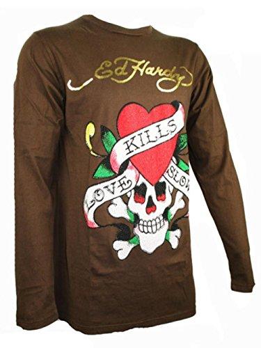 Preisvergleich Produktbild ED HARDY Special Herren Longsleeve Shirt - LOVE KILLS SLOWLY -M
