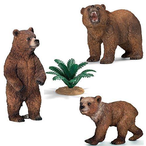 Preisvergleich Produktbild Schleich Figuren-Spiel Set - Wild Life Bärenfamilie - Grizzlybären Set Wild Life 41402 (Rarität!) Grizzlybärin 14686