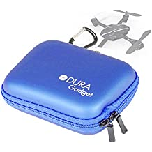 DURAGADGET Funda Azul Rígida Para Drone Hubsan H107 - Con Mini Mosquetón