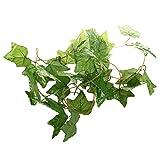 SODIAL(R)Kuenstlicher Efeu Girlande Dekoration Plastikblumen fuer Hochzeit