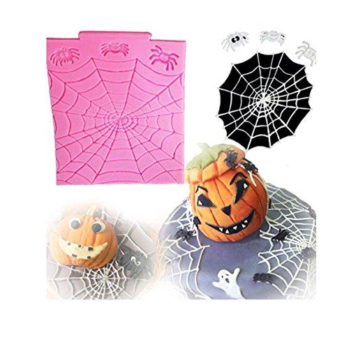 EJY 1 Stück Halloween Spinne Kuchenform Silikonform, DIY Kuchen Schokoladen Backwerkzeuge Dekorieren (Diy Spinnen Halloween)
