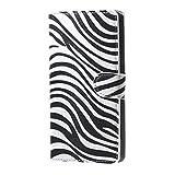 Huawei Ascend Y5 Cover,Protettiva Custodia a Portafoglio Wallet Cover per Huawei Ascend Y5 Y560 Case in Pelle con Funzione di Supporto,Zebra