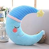 Regalo de juguete cojín de coche para sofa de Luna de decoración de cámara de bebé decorativo 40 cm azul